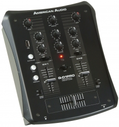 AMERICAN AUDIO - Q D1 PRO USB - 2 Kanal DJ Mixer mit USB Eingang und MP3 Player