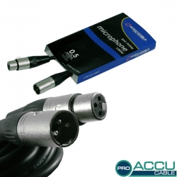 Accu-Cable - AC-PRO-XMXF/0,5 - XLR Mikrofonkabel 0,5 Meter