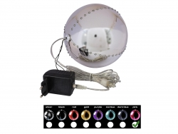 EUROPALMS LED Snowball 15cm, rosa